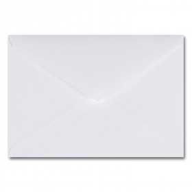 Fine Impressions Hi White Envelopes - Tiffany Inner Non Gummed (5 3/4 x 8) 70 lb Text Vellum - 50 per Box