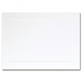 Fine Impressions Hi White Folded Panel Cards - A7 (5 1/8 x 7 folded) 80 lb Cover Vellum - 250 per Box