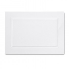 Fine Impressions Hi White Folded Triple Panel Cards - A1 (4 7/8 x 3 1/2 folded) 100 lb Text Vellum - 250 per Box