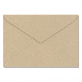 Fine Impressions Kraft Envelopes - Jumbo Inner Non Gummed (5 5/16 x 7 5/8) 80 lb Text Smooth - 250 per Box