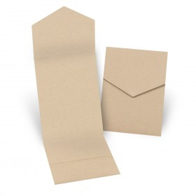 Fine Impressions Kraft Pocket Folder (5 1/4 x 7 5/16 folded) 100 lb Cover Smooth - 250 per Box