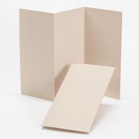 Fine Impressions Kraft Tri-Fold Program (4 x 8 folded) 100 lb Cover Smooth - 250 per Box