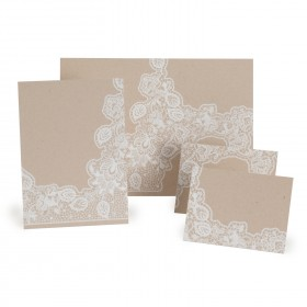 Fine Impressions Kraft and Lace Sep 'n Send (7 1/8 x 10) 100 lb Cover Smooth - 250 per Box