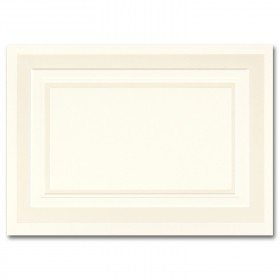 Fine Impressions Pearl Embossed Border Ecru Folded Cards - A1 (3 1/2 x 4 7/8 folded) 100 lb Text Vellum - 50 per Box