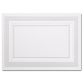 Fine Impressions Pearl Embossed Border Hi White Folded Cards - A1 (4 7/8 x 3 1/2 folded) 100 lb Text Vellum - 50 per Box