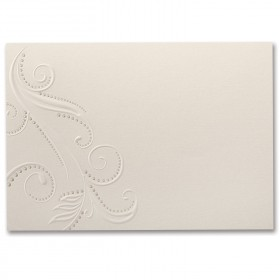 Fine Impressions Pearl Swirls Ecru Shimmer Flat Invitations - Tiffany (5 1/2 x 7 3/4) 105 lb Cover Smooth - 50 per Box