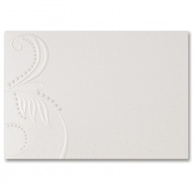 Fine Impressions Pearl Swirls Ecru Shimmer Folded Cards - A1 (3 1/2 x 4 7/8 folded) 105 lb Cover Smooth - 50 per Box