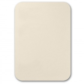 Fine Impressions Rounded Corners Ecru Shimmer Flat Invitations - Tiffany (5 1/2 x 7 3/4) 105 lb Cover Smooth - 50 per Box
