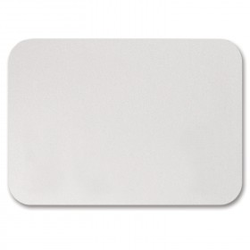 Fine Impressions Rounded Corners White Shimmer Flat Cards - A1 (3 1/2 x 4 7/8) 105 lb Cover Smooth - 50 per Box