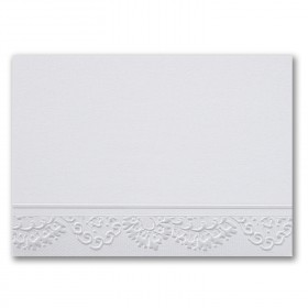 Fine Impressions Silver Lace White Shimmer Flat Cards - A1 (3 1/2 x 4 7/8) 105 lb Cover Smooth - 50 per Box