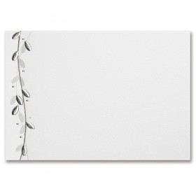 Fine Impressions Silver Leaf White Shimmer Folded Cards - A1 (3 1/2 x 4 7/8 folded) 105 lb Cover Smooth - 50 per Box