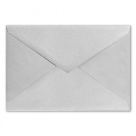 Fine Impressions Silver Shimmer Envelopes - Jumbo Outer (5 7/16 x 7 7/8) 80 lb Text Smooth - 50 per Box