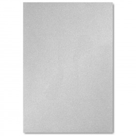 Fine Impressions Silver Shimmer Flat Top Layer Invitations - Jumbo (4 7/8 x 7) 105 lb Cover Smooth - 50 per Box