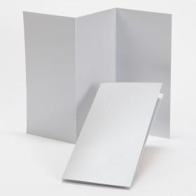 Fine Impressions Silver Shimmer Tri-Fold Program (4 x 8 folded) 105 lb Cover Smooth - 50 per Box