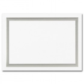 Fine Impressions Simple Silver Border Hi White Folded Cards - A1 (3 1/2 x 4 7/8 folded) 80 lb Cover Vellum - 50 per Box