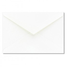 Fine Impressions White Shimmer Envelopes - Jumbo Outer (5 7/16 x 7 7/8) 80 lb Text Smooth - 50 per Box