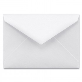 Fine Impressions White Shimmer Envelopes - Tiffany Inner Non Gummed (5 3/4 x 8) 80 lb Text Smooth - 50 per Box