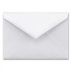 Fine Impressions White Shimmer Envelopes - Tiffany Outer (6 x 8 1/4) 80 lb Text Smooth - 50 per Box