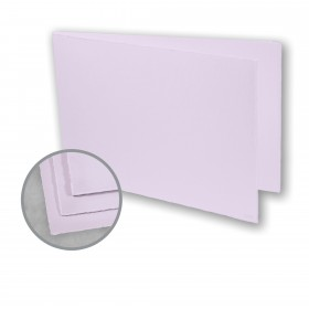 Arturo Lavender Folded Cards - Arturo Medium Greeting Folded Landscape (4.53 x 13.39) 96 lb Cover Felt 100 per Box