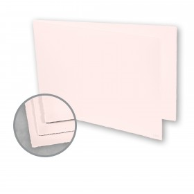 Arturo Pink Folded Cards - Arturo Medium Greeting Folded Landscape (4.53 x 13.39) 96 lb Cover Felt 100 per Box