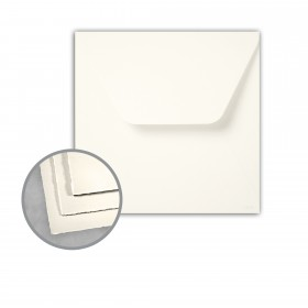 Arturo Soft White Envelopes - Arturo 7 1/4 Square Inner w/o Glue (7 1/4 x 7 1/4) 81 lb Text Felt 100 per Box