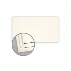 Arturo Soft White Flat Cards - Arturo Monarch (3 7/8 x 7 1/4) 96 lb Cover Felt 100 per Box