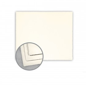 Arturo Soft White Flat Cards - Arturo Small Square Single (5 1/4 x 5 1/4) 96 lb Cover Felt 100 per Box