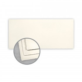 Arturo Soft White Flat Cards - Arturo Tea Length (4 1/8 x 9 1/8) 96 lb Cover Felt 100 per Box