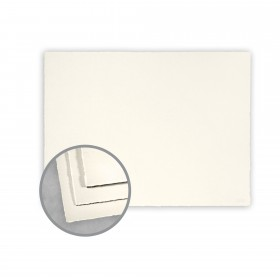 Arturo Soft White Flat Cards - Arturo Small Reply Single (5.12 x 3.35) 96 lb Cover Felt 100 per Box