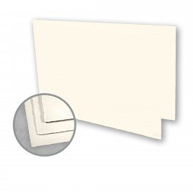 Arturo Soft White Folded Cards - Arturo Medium Greeting Folded Landscape (4.53 x 13.39) 96 lb Cover Felt 100 per Box