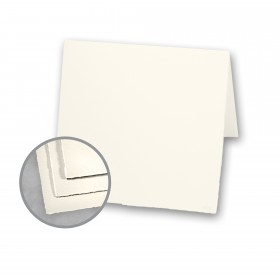 Arturo Soft White Folded Cards - Arturo Medium Square Folded (6 1/4 x 12 1/2) 96 lb Cover Felt 100 per Box