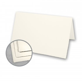 Arturo Soft White Folded Cards - Arturo Small Reply Folded (5.12 x 6.7) 96 lb Cover Felt 100 per Box
