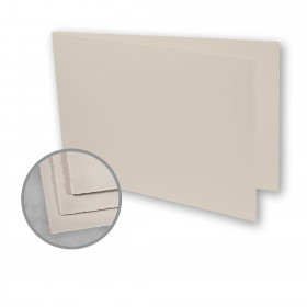 Arturo Stone Grey Folded Cards - Arturo Medium Greeting Folded Landscape (4.53 x 13.39) 96 lb Cover Felt 100 per Box