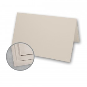 Arturo Stone Grey Folded Cards - Arturo Small Reply Folded (5.12 x 6.7) 96 lb Cover Felt 100 per Box