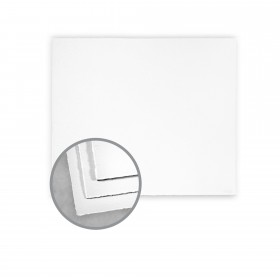 Arturo White Flat Cards - Arturo Medium Square Single (6 1/4 x 6 1/4) 96 lb Cover Felt 100 per Box