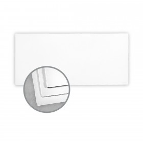 Arturo White Flat Cards - Arturo Tea Length (4 1/8 x 9 1/8) 96 lb Cover Felt 100 per Box