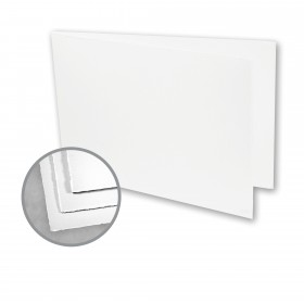 Arturo White Folded Cards - Arturo Medium Greeting Folded Landscape (4.53 x 13.39) 96 lb Cover Felt 100 per Box