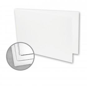 Arturo White Folded Cards - Arturo Medium Greeting Folded Landscape (4.53 x 13.39) 96 lb Cover Felt 100 per Box