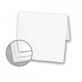 Arturo White Folded Cards - Arturo Medium Square Folded (6 1/4 x 12 1/2) 96 lb Cover Felt 100 per Box
