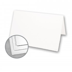 Arturo White Folded Cards - Arturo Small Reply Folded (5.12 x 6.7) 96 lb Cover Felt 100 per Box