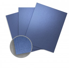 ASPIRE Petallics Blue Star Card Stock - 8 1/2 x 11 in 105 lb Cover Metallic C/2S 200 per Package