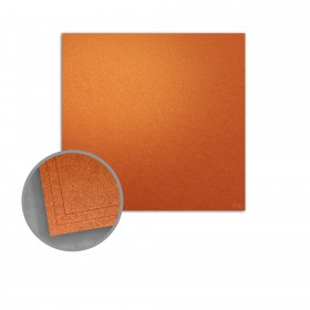 ASPIRE Petallics Copper Ore Flat Cards - No. 6 1/4 Square (6 1/4 x 6 1/4) 98 lb Cover Metallic C/2S 200 per Carton