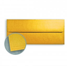 ASPIRE Petallics Gold Ore Envelopes - No. 10 Square Flap (4 1/8 x 9 1/2) 80 lb Text Metallic C/2S 500 per Box