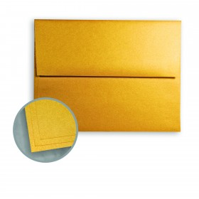 ASPIRE Petallics Gold Ore Envelopes - A7 (5 1/4 x 7 1/4) 81 lb Text Metallic C/2S 250 per Box