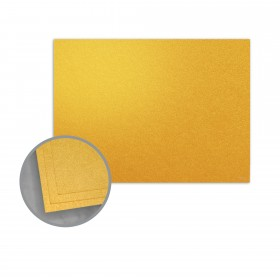 ASPIRE Petallics Gold Ore Flat Cards - A6 (4 5/8 x 6 1/4) 98 lb Cover Metallic C/2S 400 per Carton