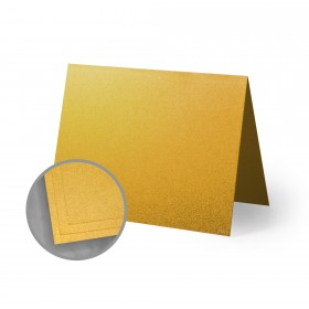 ASPIRE Petallics Gold Ore Folded Cards - A6 (4 5/8 x 6 1/4 folded) 98 lb Cover Metallic C/2S 200 per Carton