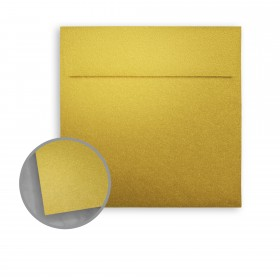 ASPIRE Petallics Pure Gold Envelopes - No. 6 1/2 Square (6 1/2 x 6 1/2) 81 lb Text Metallic C/2S 250 per Box