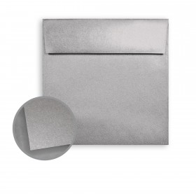 ASPIRE Petallics Pure Silver Envelopes - No. 6 1/2 Square (6 1/2 x 6 1/2) 81 lb Text Metallic C/2S 250 per Box