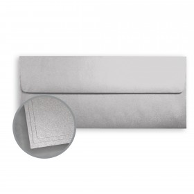 ASPIRE Petallics Silver Ore Envelopes - No. 10 Square Flap (4 1/8 x 9 1/2) 80 lb Text Metallic C/2S  500 per Box