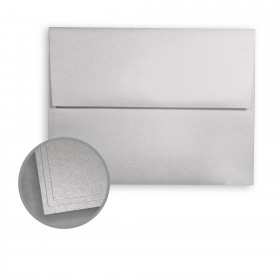 ASPIRE Petallics Silver Ore Envelopes - A9 (5 3/4 x 8 3/4) 80 lb Text Metallic C/2S 250 per Box